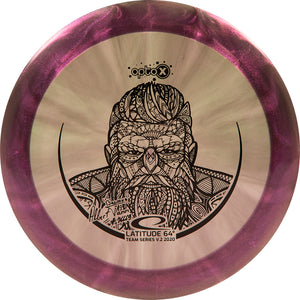 Latitude 64 Limited Edition 2020 Team Series Albert Tamm Glimmer Opto-X Recoil Distance Driver Golf Disc
