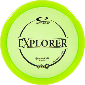 Latitude 64 Limited Edition 2020 Team Series Emerson Keith Opto-X Explorer Fairway Driver Golf Disc