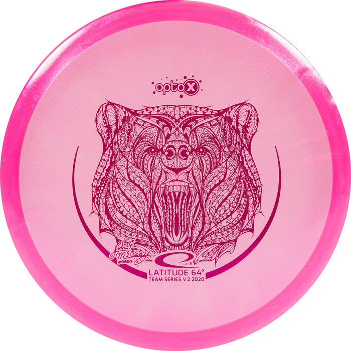 Latitude 64 Limited Edition 2020 Team Series JohnE McCray Glimmer Opto-X Fuse Midrange Golf Disc