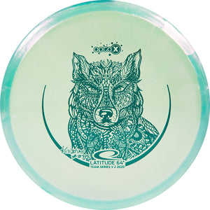 Latitude 64 Limited Edition 2020 Team Series Kristin Tattar Glimmer Opto-X Pure Putter Golf Disc