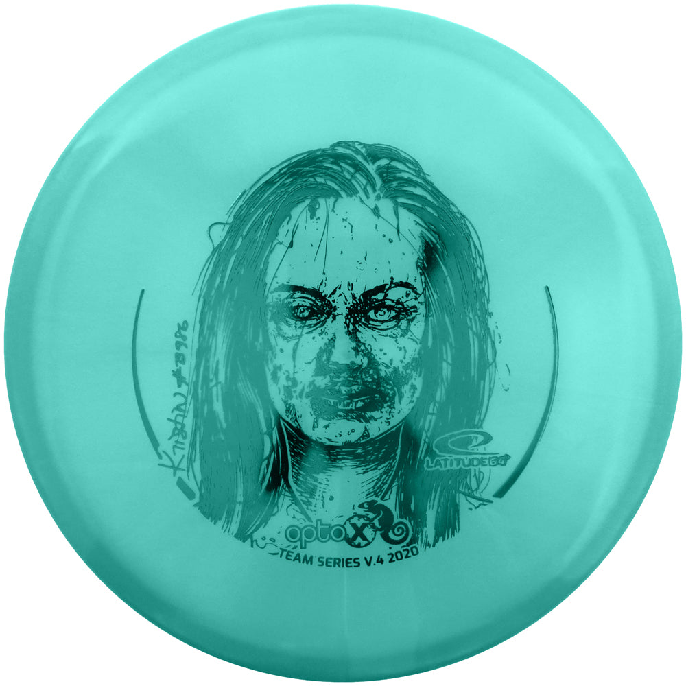 Latitude 64 Limited Edition 2020 Team Series Kristin Tattar Moonshine Glow Chameleon Opto-X Pure Putter Golf Disc