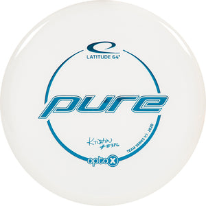 Latitude 64 Limited Edition 2020 Team Series Kristin Tattar Opto-X Pure Putter Golf Disc