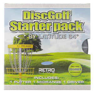 Latitude 64 3-Disc Retro Burst Beginner Starter Disc Golf Set