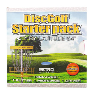 Latitude 64 3-Disc Retro Senior Starter Disc Golf Set