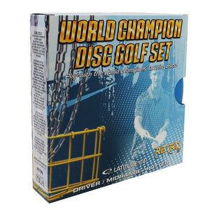 Latitude 64 3-Disc Retro World Champion Starter Disc Golf Set