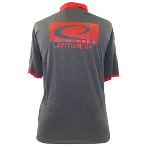 Latitude 64 Box Logo Short Sleeve Performance Disc Golf Polo Shirt
