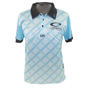 Latitude 64 Fence Sublimated Short Sleeve Performance Disc Golf Polo Shirt