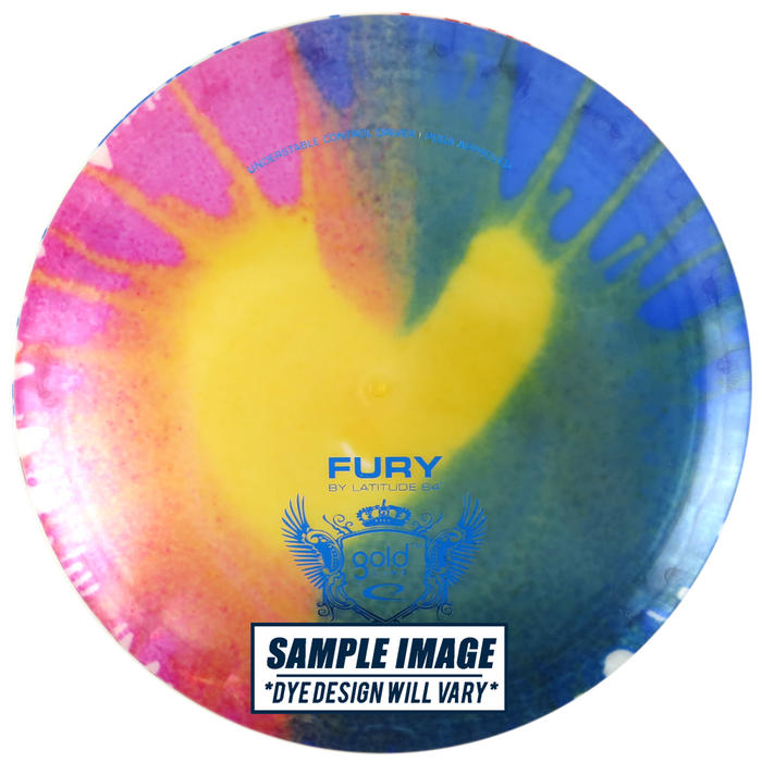 Latitude 64 MyDye Gold Line Fury Fairway Driver Golf Disc