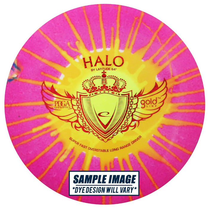 Latitude 64 MyDye Gold Line Halo Distance Driver Golf Disc