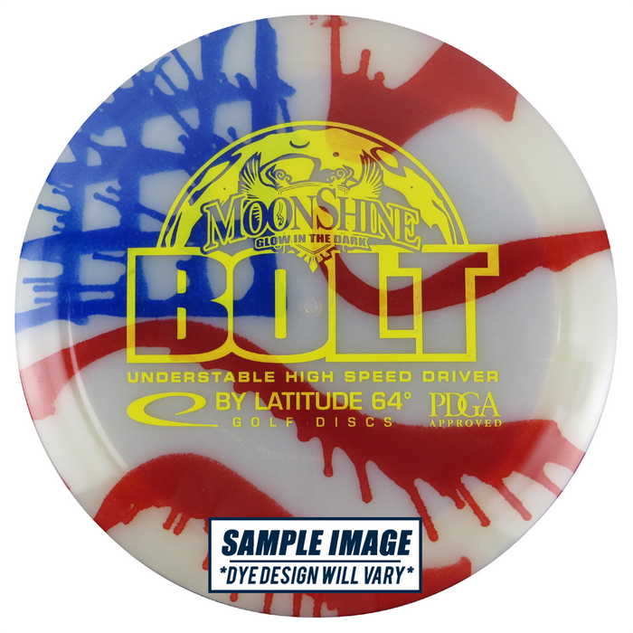 Latitude 64 MyDye Moonshine Glow Opto Bolt Distance Driver Golf Disc