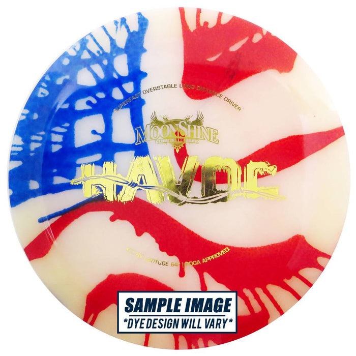 Latitude 64 MyDye Moonshine Glow Opto Havoc Distance Driver Golf Disc