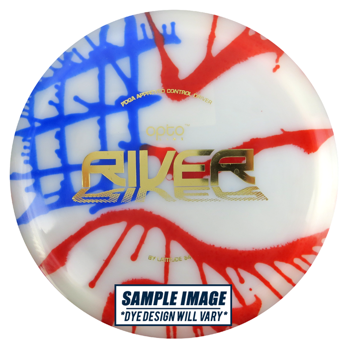 Latitude 64 MyDye Opto Line River Fairway Driver Golf Disc