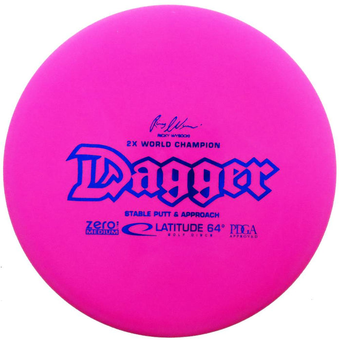 Latitude 64 Zero Line Medium Dagger [Ricky Wysocki 2X] Putter Golf Disc