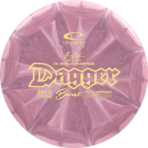 Latitude 64 Zero Medium Burst Dagger [Ricky Wysocki 2X] Putter Golf Disc