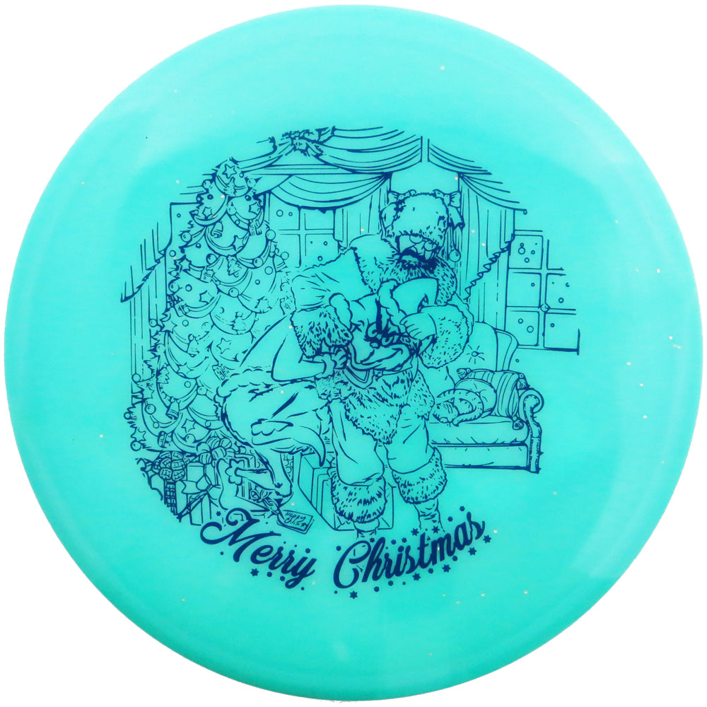 Legacy Limited Edition 2019 Holiday Santa vs. Grinch Glow Icon Ghost Midrange Golf Disc