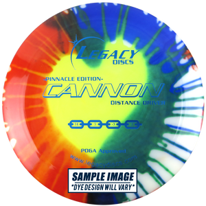 Legacy Tie-Dye Pinnacle Edition Cannon Distance Driver Golf Disc