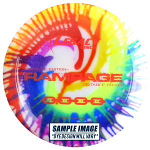 Legacy Tie-Dye Pinnacle Edition Rampage Distance Driver Golf Disc