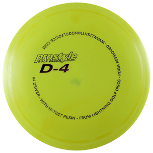 Lightning Prostyle D-4 #4 Driver Fairway Driver Golf Disc