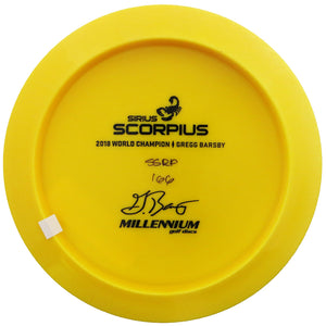 Millennium Bottom Stamp Gregg Barsby Signature Sirius Scorpius Distance Driver Golf Disc