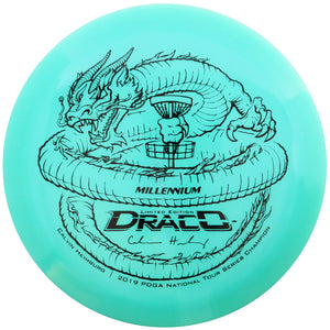 Millennium Limited Edition Calvin Heimburg Lunar Color Glow Quantum Draco Distance Driver Golf Disc