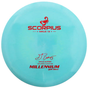 Millennium Limited Edition Gregg Barsby Signature Sirius Scorpius Distance Driver Golf Disc