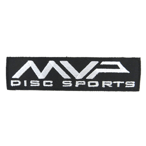 MVP Disc Sports Rectangle Logo Iron-On Disc Golf Patch