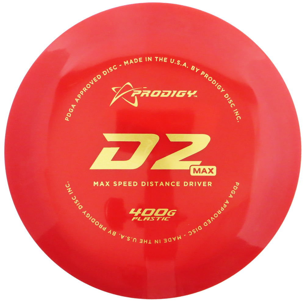 Prodigy 400G Series D2 Max Distance Driver Golf Disc