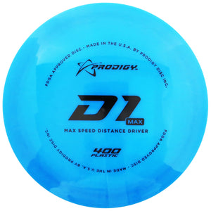 Prodigy 400 Series D1 Max Distance Driver Golf Disc