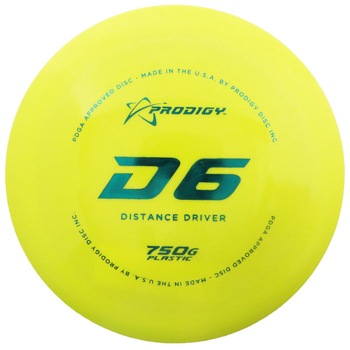 Prodigy 750G Series D6 Distance Driver Golf Disc