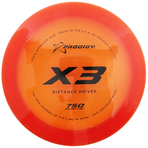 Prodigy 750 Series X3 Distance Driver Golf Disc