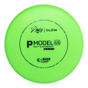 Prodigy Ace Line Glow Base Grip P Model US Putter Golf Disc