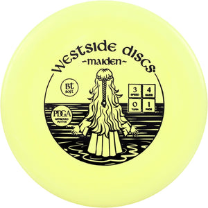 Westside BT Soft Maiden Putter Golf Disc