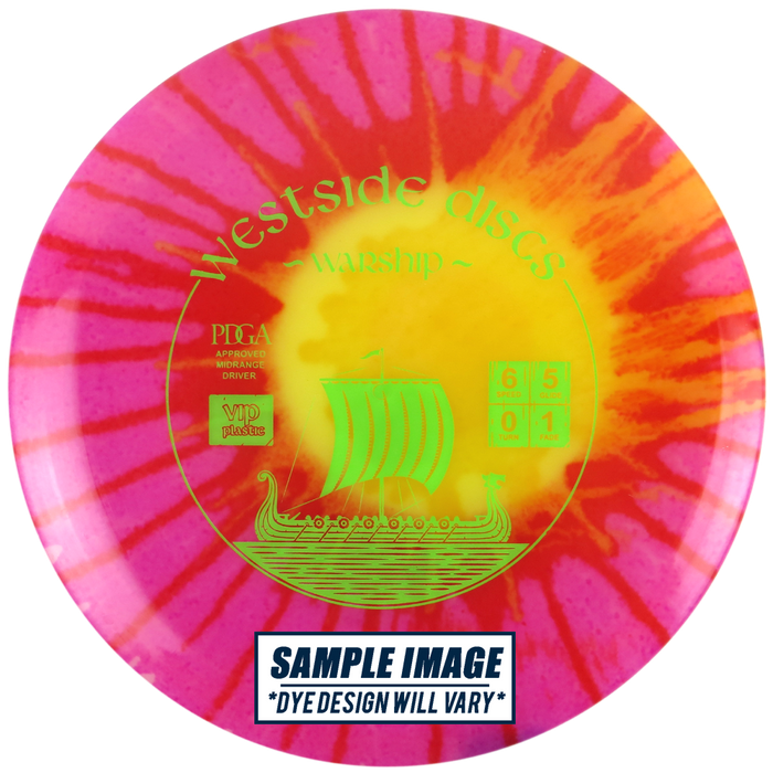Westside MyDye VIP Warship Midrange Golf Disc