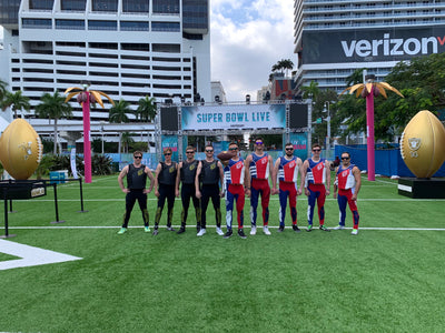 Jetpilot Athletes Perform At The Super Bowl LIVE Water Show