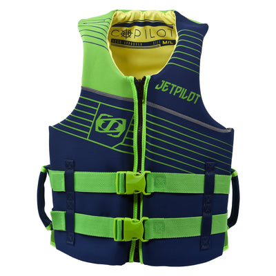 Front view of the Jetpilot Copilot vest in the Navy colorway.
