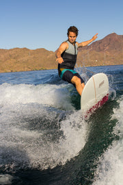 "Wake surfer shredding the wake with the Jetpilot Perch 5'2"" wake surfboard"