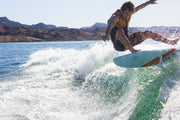 Wake surfer shredding the wake with the Jetpilot Stoker Broker wake surf
