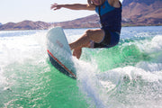 Dylan Ayala shredding the wake with the Jetpilot Glass Slipper wake surf