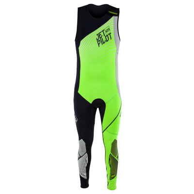 Front view of the Jetpilot Matrix John Wetsuit Green Black colorway.