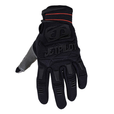 Front view of the Jetpilot Martix Race Full Finger glove Black colorway.