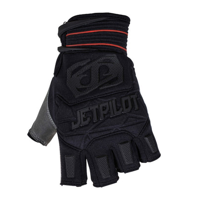 Front view of the Jetpilot Martix Race Short Finger glove Black colorway.