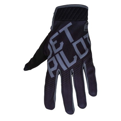 Front view of the Jetpilot Phantom Superlite Glove Black colorway.