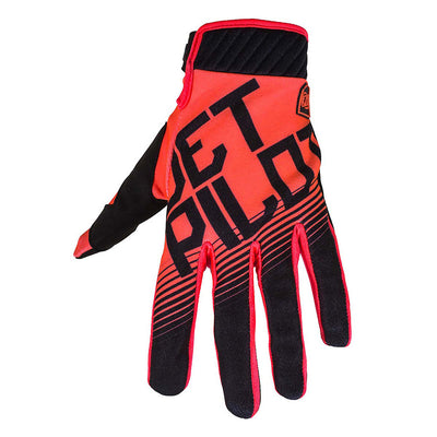 Front view of the Jetpilot Phantom Superlite Glove Black Orange colorway.