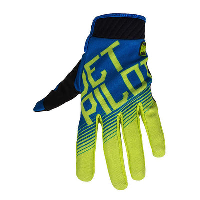 Front view of the Jetpilot Phantom Superlite Glove Blue Green colorway.