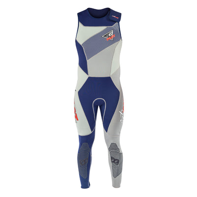 Front view of the Jetpilot Vintage John Wetsuit Navy colorway.