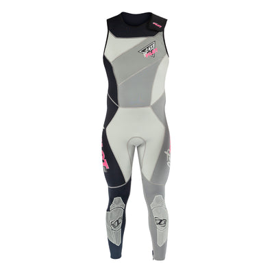 Front view of the Jetpilot Vintage John Wetsuit Silver colorway.