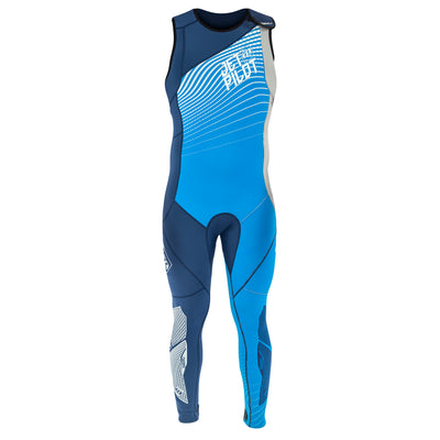 Front view of the Jetpilot Matrix John Wetsuit Blue colorway.
