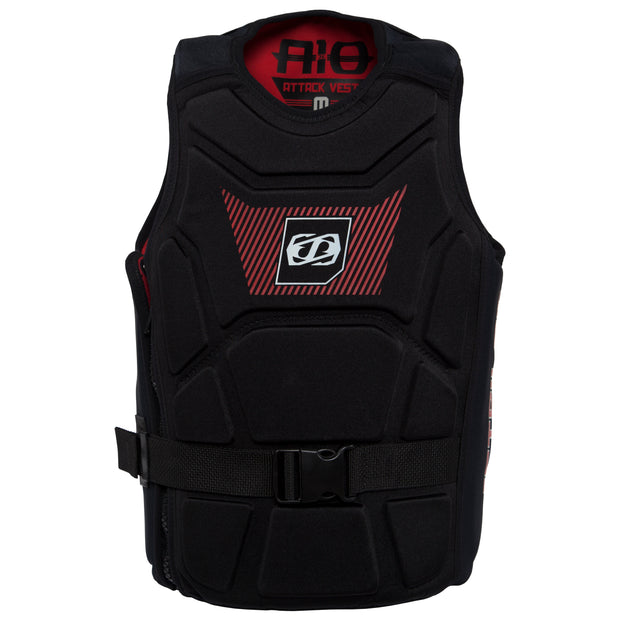 Jetpilot's A-10 Comp Vest black colorway front side photo
