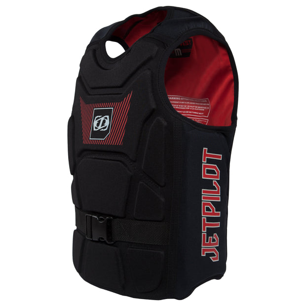 Jetpilot's A-10 Comp Vest black colorway side profile photo