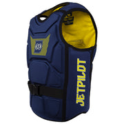 Jetpilot's A-10 Comp Vest navy colorway side profile photo